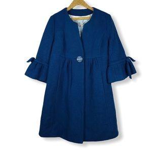 Anthropologie Tabitha Blue Wool Blend Coat Jacket
